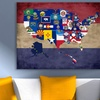"""48""""x36"""" United States Flags Gallery Wrapped Canvas"""