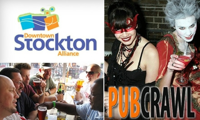 Downtown Stockton Pub CRAWL - Civic Center: $30 for Two Inclusive Wristbands to the Downtown Stockton Pub Crawl on Saturday, October 30 (Up to $70 Value)