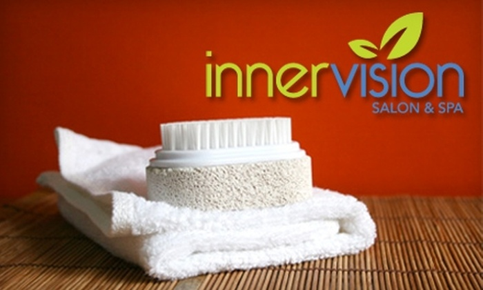InnerVision Salon & Spa - Loves Park: $37 for a One-Hour Aveda Elemental Nature Facial and Eyebrow Waxing ($75 Value) or $30 for a Manicure and Pedicure (Up to $60 Value) at InnerVision Salon & Spa