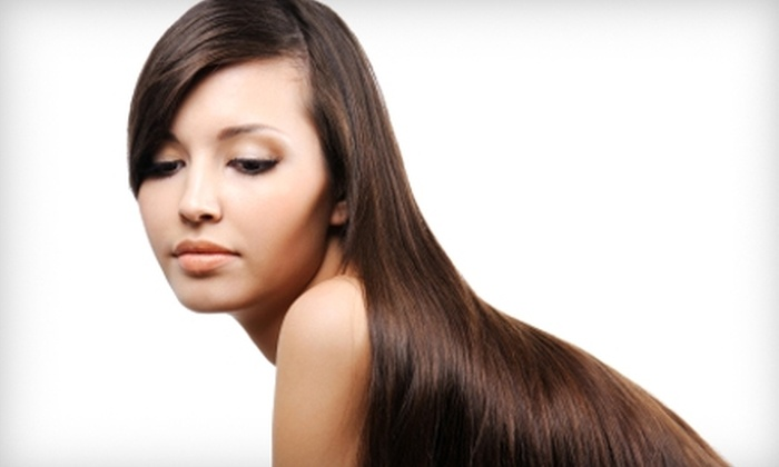 Shear Illusion - Shoppes At Val Vista: $75 for an Express Blowout ($150 Value) or $149 for a Brazilian Blowout ($300 Value) at Shear Illusion in Gilbert