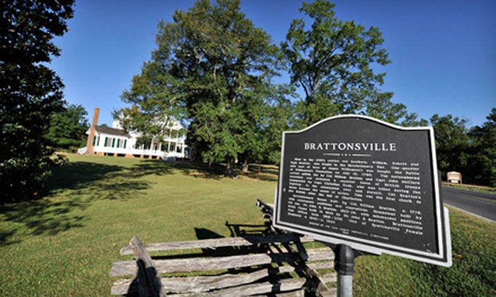 Historic Brattonsville - McConnells: $9 for Four Tickets to Historic Brattonsville in McConnells ($18 Value)