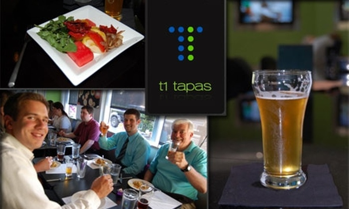 T1 Tapas - Huntersville: $12 for $30 Worth of Tapas, Drinks, and More at T1 Tapas