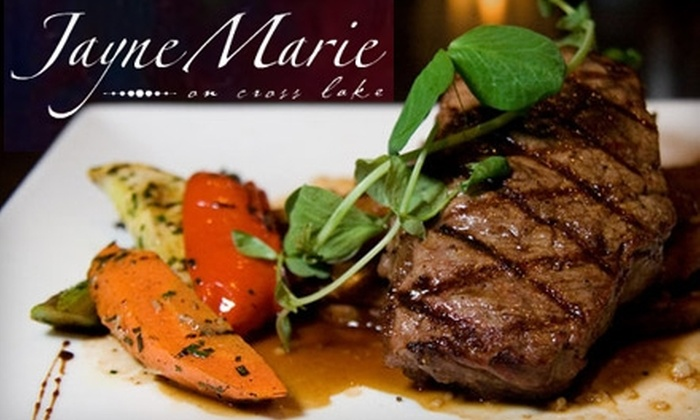 Jayne Marie on Cross Lake - Country Club Hills, Lakeshore Shopping: $30 for $60 Worth of Contemporary American Fare at Jayne Marie on Cross Lake