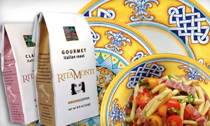 Rita Monti: $20 for $40 Worth of Italian Dinnerware and Gourmet Coffee from Rita Monti