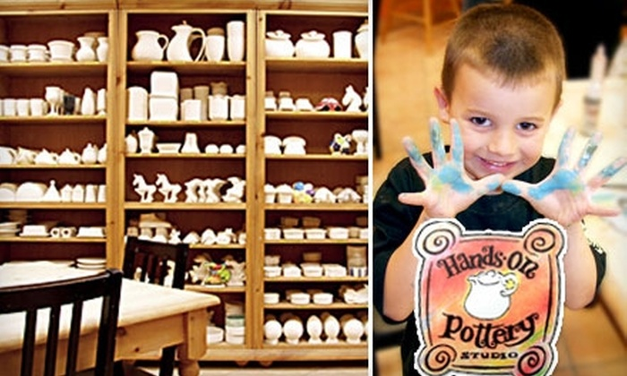 Hands On Pottery Studio - Woodmere: $15 for $30 Worth of Paint-Your-Own Pottery and Mosaic Creation at Hands On Pottery Studio in Woodmere