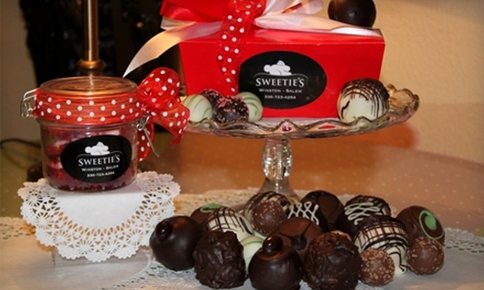 Sweetie's - Winston-Salem: $13 for a Valentine's Day Package of Gourmet Chocolate Truffles and Red-Velvet Cake at Sweetie's