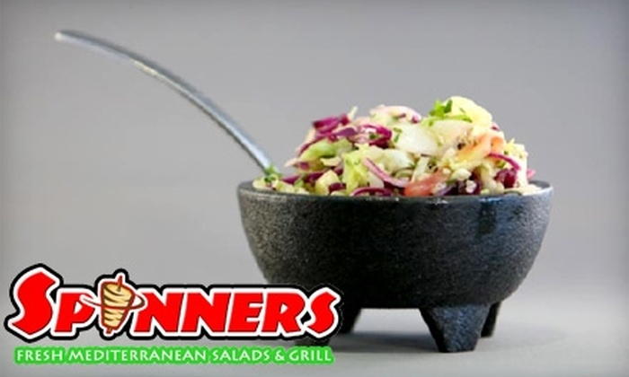 Spinners San Diego - Rancho San Diego: $8 for $16 Worth of Freshly Prepped Salads and Grill Fare at Spinners in El Cajon