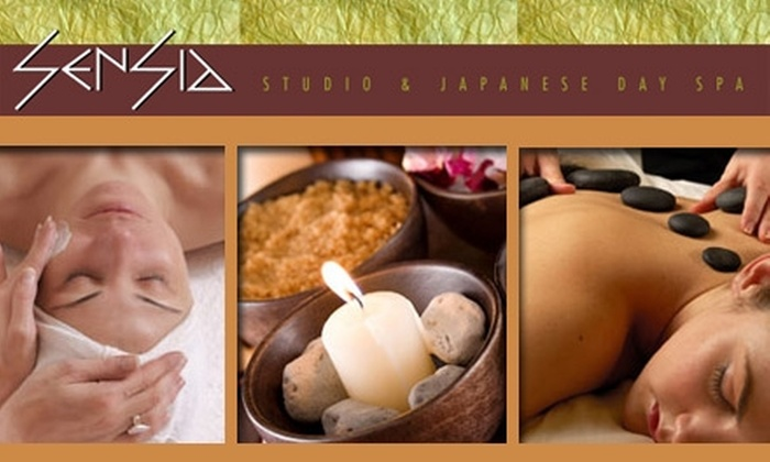 Sensia Studio and Japanese Day Spa - Great Uptown: $50 Zen Facial with Vitamin-C Treatment or 90-Minute Massage from Sensia Studio & Japanese Day Spa (Up to $110 Value)