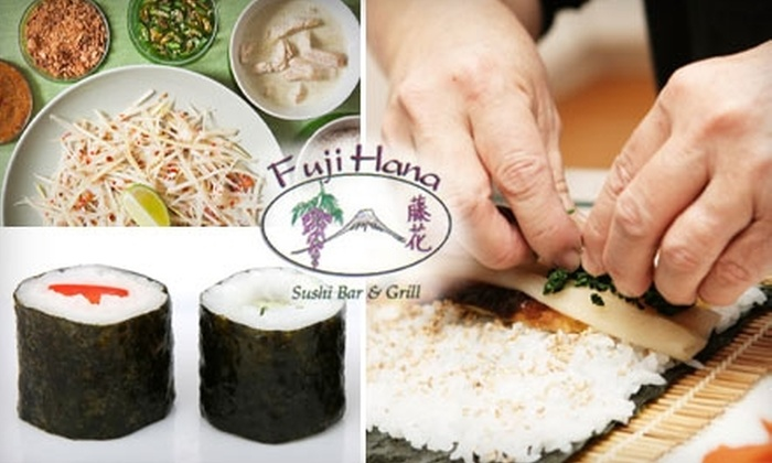 Fuji Hana Sushi Bar & Grill and Thai Peppers - Town Center At Cobb: $45 for a Sushi or Thai Cooking Class at Fuji Hana and Thai Peppers in Kennesaw ($90 Value)
