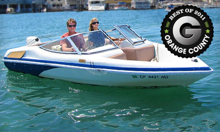 Marina Boat Rentals - Balboa Peninsula Point: $29 for a One-Hour Runabout-Boat Rental from Marina Boat Rentals in Newport Beach ($69 Value)