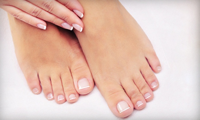 Monica's Nail Salon and Day Spa - Clark Place: Mani-Pedis at Monica's Nail Salon and Day Spa (Up to 70% Off). Three Options Available.