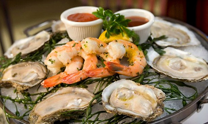 City Lobster and Steak - Theater District - Times Square: $29 for The Empire Seafood Platter with Oysters, Clams, Jumbo Shrimp, Crab Claws, and Two Drinks at City Lobster and Steak (Up to $59 Value)