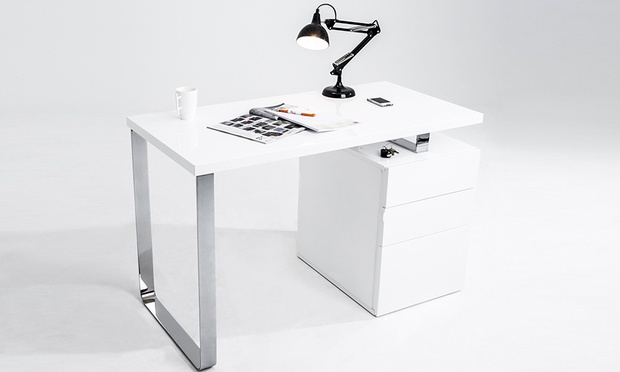 Bureau caisson tag re tiroirs groupon shopping for Bureau 90 cm de long
