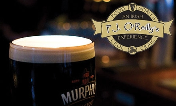 P.J. O'Reilly's - Ballantyne West: $15 for $35 Worth of Savory Irish Fare and Beverages at P.J. O'Reilly's