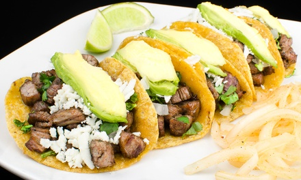 Mexican Food at Bravo Taco (40% Off). Two Options Available.
