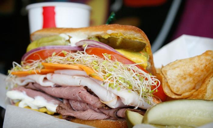 DTM Sandwiches - La Mesa: $9 for Sandwiches, Chips, and Drinks for Two at DTM Sandwiches in La Mesa (Up to $18.94 Value)