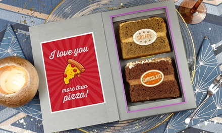 Personalised Cake Card with Two Slices of Cake from Sponge Cakes - Delivery Included (42% Off)