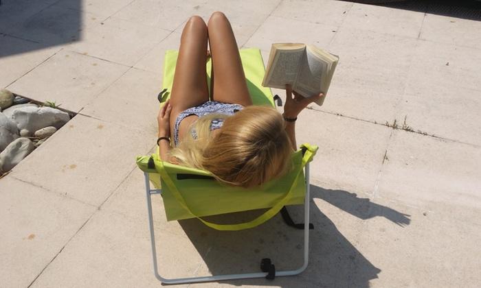 matelas de plage avec dossier groupon shopping. Black Bedroom Furniture Sets. Home Design Ideas