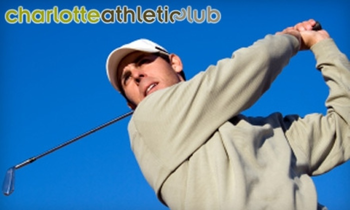 Charlotte Athletic Club - Second Ward: $45 for Three Hours of Golf Simulator Time and One Video Lesson at Charlotte Athletic Club ($140 Value)