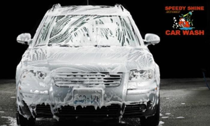 Speedy Shine Express - Central Colorado City: $19 for Four Premier Shine Car Washes at Speedy Shine Express ($40 Value)