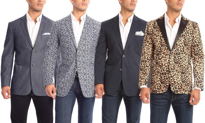 Verno Men's 100% Cotton Blazers in Classic or Slim Fit