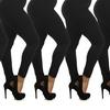 Women's Plus Size Fleece Lined Leggings (6-Pack)