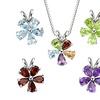 5-Piece Interchangeable Gemstone Pendant Necklace