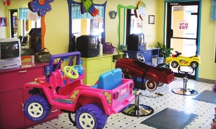 Bananas Salon for Kids - Fort Myers: Kids' Haircut, Kids Haircut with 5 Hair Tinsels, or 10 Hair Tinsels at Bananas Salon for Kids (Up to 53% Off)