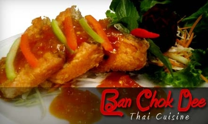 Ban Chok Dee - Nicomeki: $12 For $30 Worth of Thai Cuisine at Ban Chok Dee in Langley