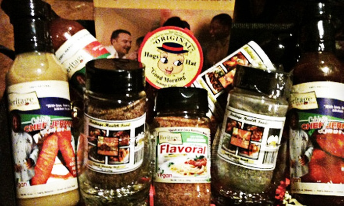 Bon'Appetité Spices: Gourmet Sauce-and-Spice Package or Gourmet Gift Basket from Bon'Appetité Spices (Up to 52% Off)