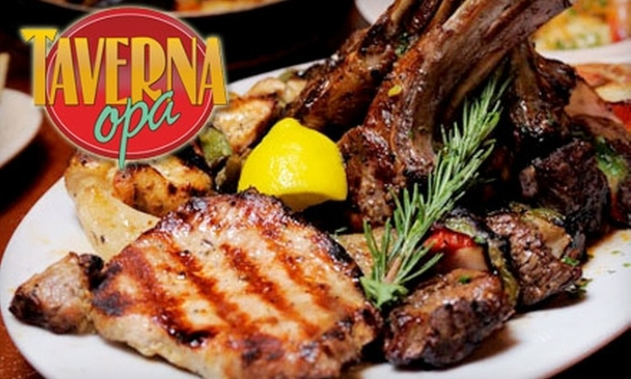 Taverna Opa Miami Beach - South Pointe: $20 for $40 Worth of Greek Fare and Drinks at Taverna Opa