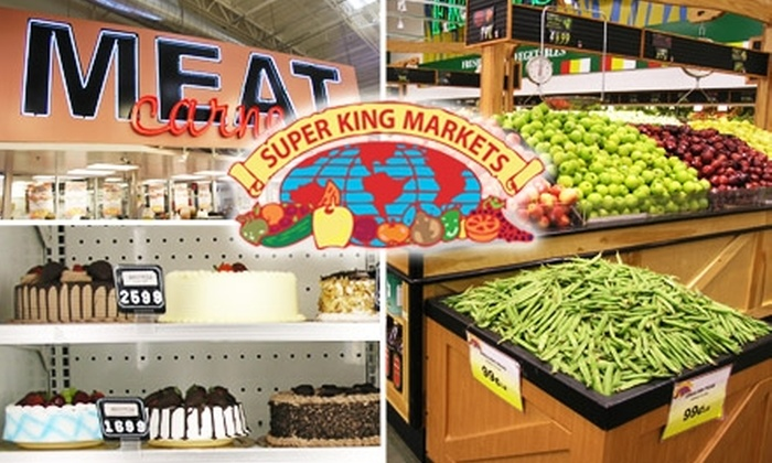 Super King Market  - East LA: $10 for $20 Worth of Groceries at Super King Market. Buy Here for LA location. See Below for Additional Locations.