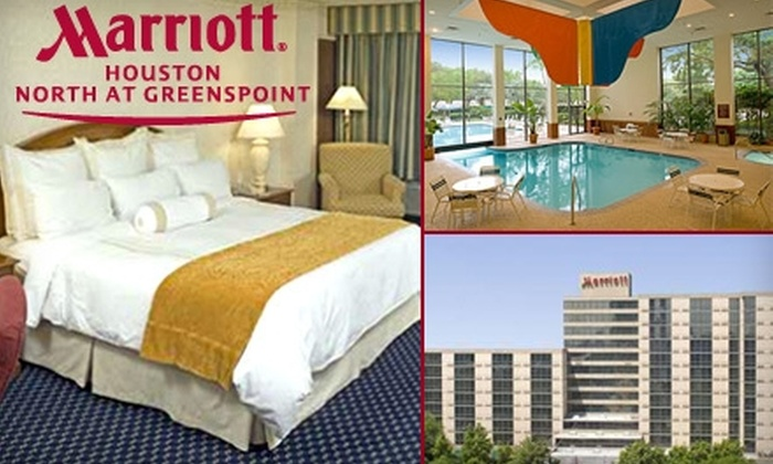 Houston Marriott North at Greenspoint - Greater Greenspoint: $99 for One Room and Dinner for Two at Houston Marriott North at Greenspoint (Up to $219 Value)