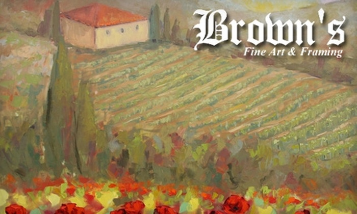 Brown's Fine Art - Jackson: $50 for $125 Worth of Framing Services or Merchandise at Brown's Fine Art & Framing