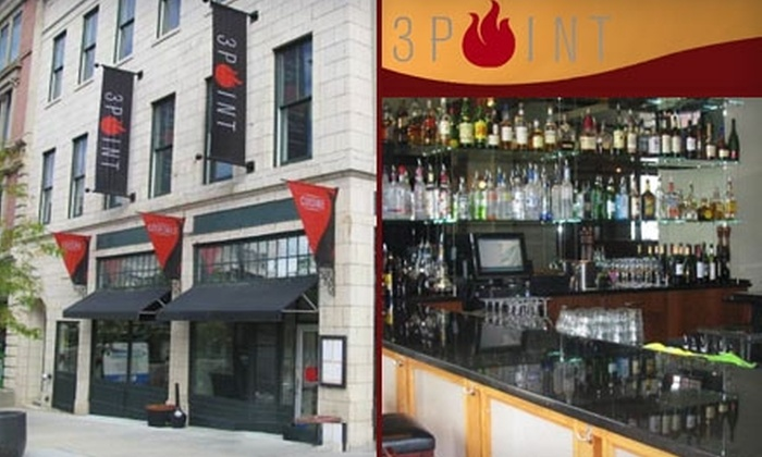 3 Point - Downtown: $15 for $30 Worth of Eclectic American Fare at 3 Point