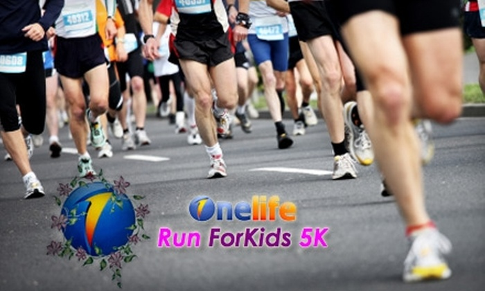 Onelife Fitness 5k Run ForKids - Norfolk: $15 Registration for the Onelife Fitness 5k Run ForKids on Saturday, July 10, 2010 ($25 Value)