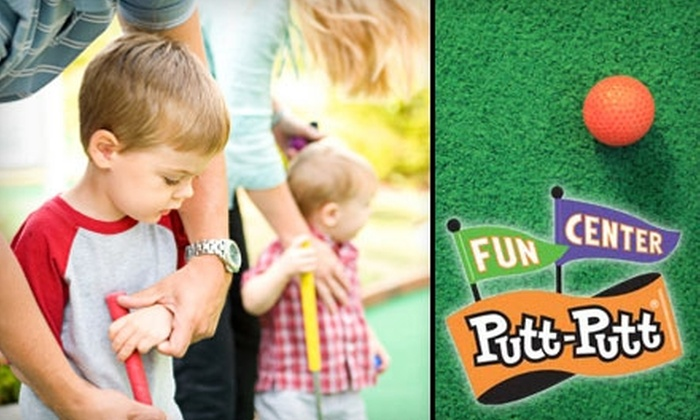 Putt-Putt Golf & Games - Farragut: $20 for Four Rounds of Mini Golf, Four Large Sodas, and 40 Game Room Tokens at Putt-Putt Golf & Games ($42 Value)