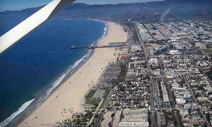 Hollywood Air Tours - Sunset Park: $159 for a Hollywood, Sunset, or Night Aerial Tour for Two from Hollywood Air Tours ($309 Value)
