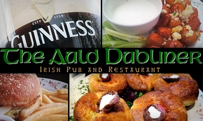 The Auld Dubliner - Downtown Long Beach: $20 for $40 Worth of Pub Fare and Drinks at The Auld Dubliner in Long Beach