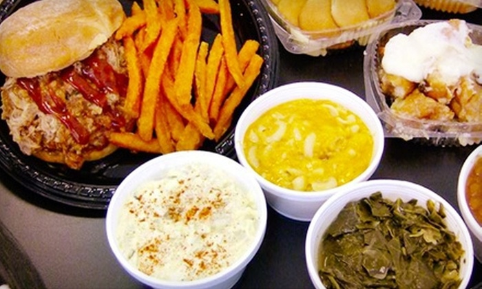 TC's Rib Crib - Spring Valley: Two Sandwiches, Two Fries, and a Dessert or $7 for $14 Worth of Southern Barbecue Fare at TC's Rib Crib