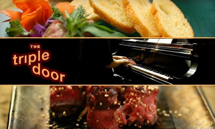 The Triple Door Musicquarium Lounge - Central Business District: $15 for $30 Worth of Asian Cuisine at The Triple Door Musicquarium Lounge, Plus Two-for-One Tickets for an Upcoming Show