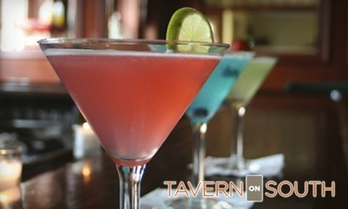 Tavern On South - Central Indianapolis: $25 for $50 Worth of Dinner and Drinks at Tavern on South