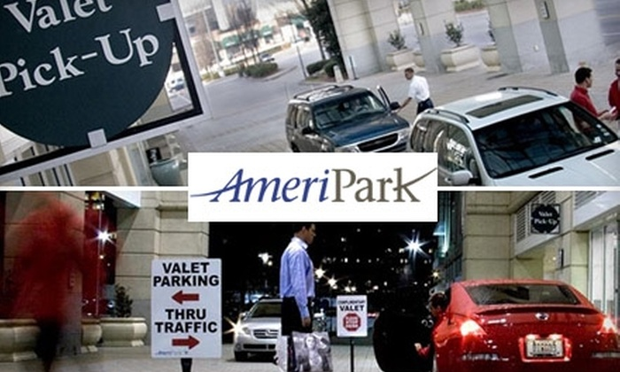 AmeriPark - North Buckhead: $10 for Three Curbside Valet Parks from AmeriPark at Phipps Plaza or Lenox Square Mall ($30 Value)