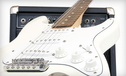 Squier Bullet Strat from Fender and Four Private 30-Minute Guitar Lessons (a $359.99 total value) - Axis Music Academy in Canton