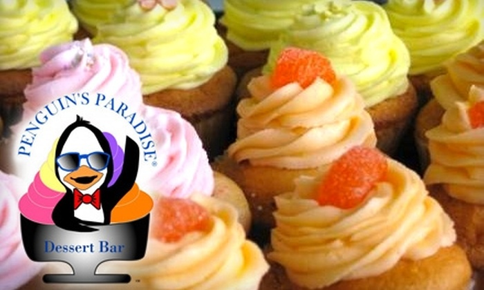 Penguin's Paradise Café & Dessert Bar - Ocoee: $5 for Four Cupcakes from Penguin's Paradise Café & Dessert Bar in Ocoee ($10 Value)