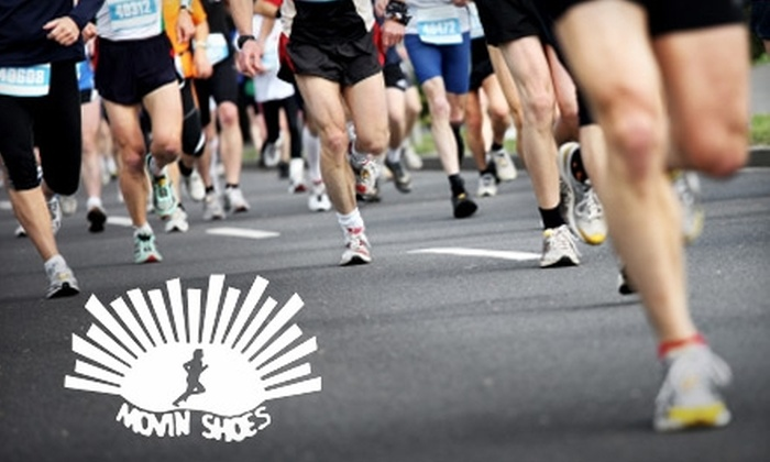Movin Shoes Running Centers - Multiple Locations: $25 for $50 Worth of Shoes and Apparel at Movin Shoes Running Centers