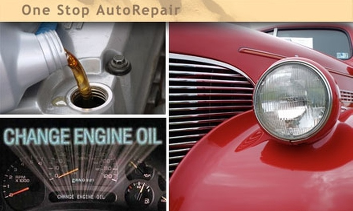 One Stop Auto Repair - Morningside: $8 for a Regular Oil Change at One Stop Auto Repair