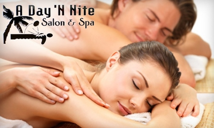 A Day 'N Nite Salon & Spa - Ward 2: $77 for a One-Hour Couples Massage Plus Wine and a Cheese-and-Cracker Plate at A Day 'N Nite Salon & Spa ($154 Value)