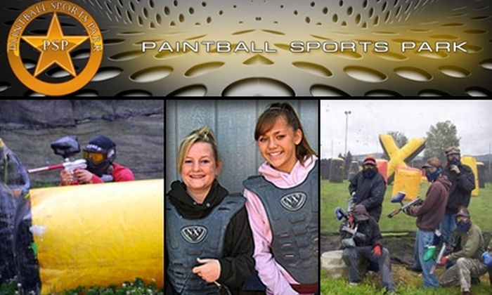 Paintball Sports Park - Puyallup: $25 for All-Day Entry, All Necessary Equipment, Limitless Air, and 250 Paintballs at Paintball Sports Park (Up to $50 Value)