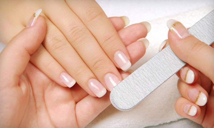 Fountain of Youth Skin & Nail Spa - Westside: $20 for a Shellac Manicure with Paraffin Treatment at Fountain of Youth Skin & Nail Spa ($40 Value)